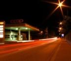 Tankstelle als Lichtverschmutzer